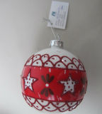 Hanging Christmas Glass Ball with Decal