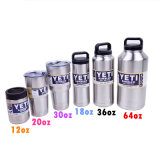 Factory Wholesale 18/8 Stainless Steel Yeti Rambler 18oz 36oz 64oz Yeti Bottle