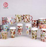 Hot Sale Ceramic Creative Color Glaze Mug Set with Popular Design for Wholesale