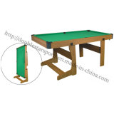 Foldable Billiard Pool Table with L Shape Leg
