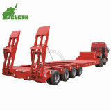 4 Line 8 Axle 150 Tons Transport Lowbed Truck Semitrailer Drop Deck Wholesale Trailer