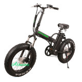 48V 750W 20′′ Foldable E Bicycle Folding Fat Tire Beach Snow Electric Bicycle