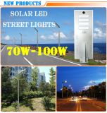 100W High Power All in One Energy Saving Solar LED Street Lamps LED Road Lamps