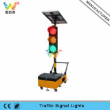 200mm Wireless Trolley Mobile Portable Signal Light Solar Traffic Light