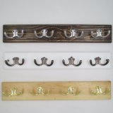 High-Grade Beautiful Clothes Hooks Wooden & Metal Row Hooks (ZH-7003)