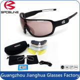 Customized Full Matt Black Frame Anti UV Road Bike Cycling Sun Glasses with Logo