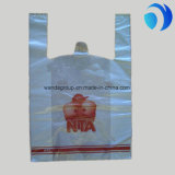 HDPE Plastic T-Shirt Handbags Customized with Good Quality