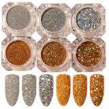Laser Paillette Glitter Powder Holo Gold Silver Manicure Nail Art Sequins