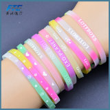 Fashion Jewelry Silicone Personalized Bracelet Fit for 8mm Slide Letters/Charms