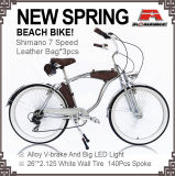 New Spring Beach Cruiser Bicycle Chrome