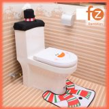 (3 in 1) Christmas Santa Claus Bathroom Toilet Seats Cover Christmas Decoration Fz050001-2