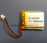 Custom 3.7V Lithium Polymer Lipo Li Ion Rechargeable Battery for Camera Headset Earphone