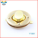 Fashion Luxury Gold Color Twist Locks for Bags Hardware