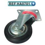 Plate Swivel Rubber Wheel Industrial Caster (HA0701)