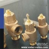 Full or Low Lift Spring Loaded Bronze & Cast Stainless Steel Pressure Safety Relief Valve with Open or Close Bonnet