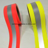 Fluo-Red and Fluo-Yellow Color Fire Retardant Reflective Tape for Clothing