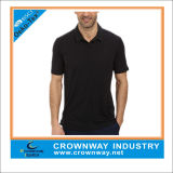 Cheap Black Travel Elements Polo Golf T-Shirt for Men