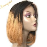 Wholesale Straight Lace Wig Bobo Ombre Colour Two Tone Indian Human Hair Wigs