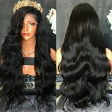 Brazilian Body Wave Natural Color Lace Wigs Pre Plucked 150% Density Lace Front Human Hair Wig with Baby Hair Remy