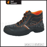 Industrial Leather Safety Shoes with Steel Toecap (Sn1667)
