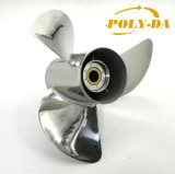 R 50-130 HP 13 1/2X15 Boat Prop Matched YAMAHA Stainless Steel Marine Outboard Propeller RC Boat Propeller