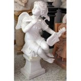 High Quality Stone Carved Marble Angel Baby Statue Sculpture