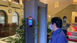 Face Recognition Door Access System Temperature Measurement and Face Recognition Access Management Module for Gate and Entrance Use