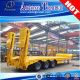Concave Beam Exposed Tyre Low Flatbed Semi Truck Trailer