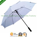 Fiberglass Windproof Advertising Double Layer Canopy Golf Umbrella (GOL-0030FFD)