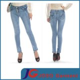 Low Rise Buckle Button Robby Skinny Jeans (JC1340)
