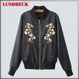 Black Polyester Jacket for Women Outer Wear