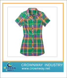 Cotton Popular Hot Ladies Shirts with High Quality (CW-LSS-2)