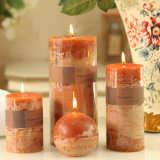 Home Aromatherapy Use Relaxing Art Craft Pillar Candle, Smokeless Candle, Highly Fragrance of Sandalwood