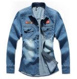 2015 Fashion Men Jeans Denim Shirt OEM Clothing Manufacturing