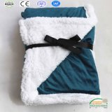 Hot Sale Solid Color Super Soft 2 Layers Sherpa Blanket Winter Season!