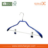 PVC Coating Wide Shoulder Suit Hanger with Clips (TS214)