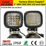 Hot Sale 48W 5′′ IP68 E-MARK R10 LED Work Light for Offroad