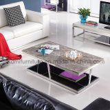 Living Room Sofa Corner Coffee Table with Stainless Steel