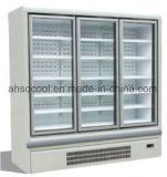 Integral Multideck Display Cabinet with Glass Door & Vertical LED Lighting