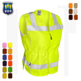 Fluorescent Green Yellow Red Hi Vis Safety Vest