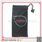 Optica Glasses Microfiber Drawstring Pouches with Logo Printing