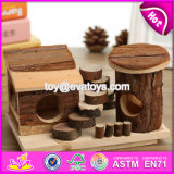 New Products Pet Accessories Natural Wooden Best Hamster Cage W06f021