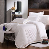 100% Cotton Embroidery Luxury Hotel White Hotel Duvet Cover Set Quality King Queen Size Bed (DPFB8091)