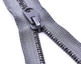Metal Zipper with Top Quality Zipper Teeth and Technology/Grey Color