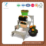 Wooden 4 Step Plant Display Stand