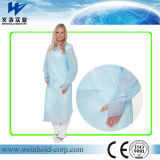 Disposable CPE Gown with Thumb Hook