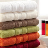 High Quality Cotton Solid Colored Bath Towels in Promotion Price