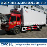 Cimc 2ton Ca4dd1-13e4 Reefer Trailer for Sale FAW Chassis Reefer Truck, Truck Body