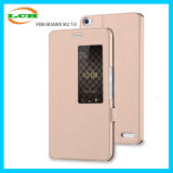 Window and Auto Sleep Universal Leather Case for Huawei M2