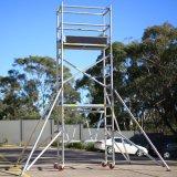 6082 Scaffolding Mobile Tower Aluminum Scaffold in Aluminum Scaffolding System